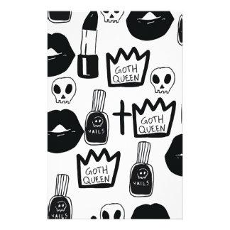 pastell goth, queen, Horror, Terror, gothic, Briefpapier