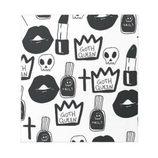 pastell goth, queen, Horror, Terror, gothic, Notizblock