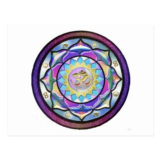 Pastell kann Mandala überraschen Postkarte