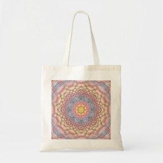 Pastell-sackt Vintage Kaleidoskop-Tasche viele Tragetasche