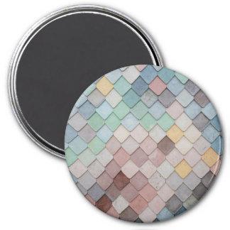 Pastell-Skalen Runder Magnet 7,6 Cm