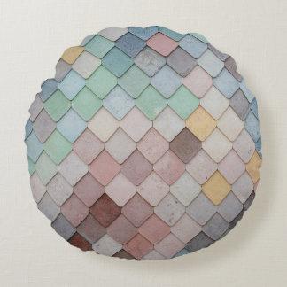 Pastell-Skalen Rundes Kissen