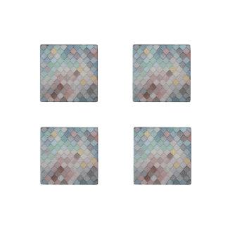 Pastell-Skalen Stein-Magnet