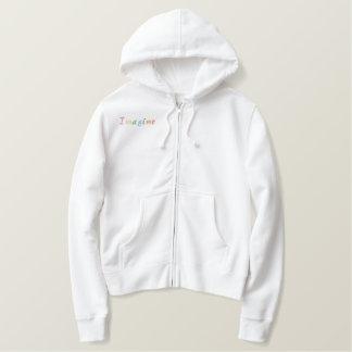 Pastell stellen sich vor bestickter hoodie