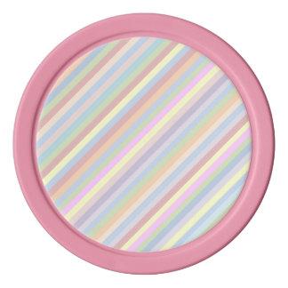 Pastell Stripes Poker-Chips Poker Chips Set