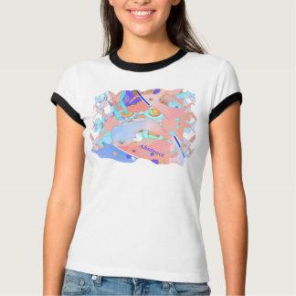 Pastell- und lila abstraktes T-Shirt