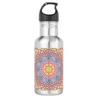 Pastell-Vintage Kaleidoskop-Wasser-Flaschen Trinkflasche