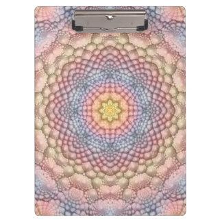 Pastell-Vintages Kaleidoskop-buntes Klemmbrett