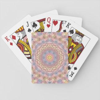Pastell-Vintages Kaleidoskop-   Spielkarten