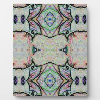 PastellAquarell-Kaleidoskop-Muster Fotoplatte