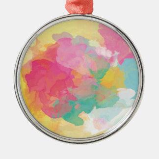 PastellAquarelle Silbernes Ornament