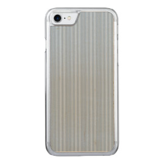 Pastellbaby-Blau-vertikale Streifen Carved iPhone 7 Hülle