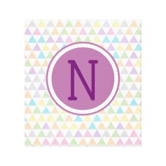 Pastellbaby-Dreieck-Gewohnheits-Initiale Leinwanddruck