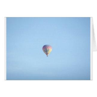 Pastellballon Karte