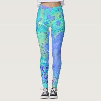 PastellBlume 3D psychedelisch Leggings