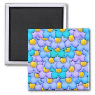 PastellBlumen Quadratischer Magnet