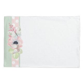 PastellBlumen und Butterlies Kissen-Kasten Kissenbezug