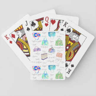 PastellblumenAquarell-Illustrations-Typografie Spielkarten