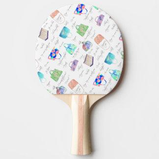 PastellblumenAquarell-Illustrations-Typografie Tischtennis Schläger