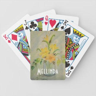 PastellBlumenzeichnen Bicycle Spielkarten
