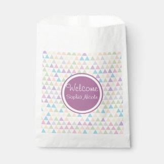 Pastelldreieck-Babyparty Geschenktütchen