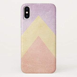 Pastelldreieckmuster iPhone X Hülle