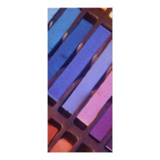 Pastelle des Künstlers Farb Werbekarte