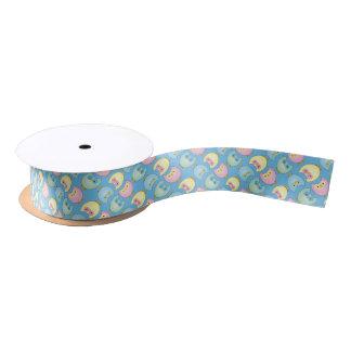 Pastelleulen-Baby-Duschen-Thema Satinband