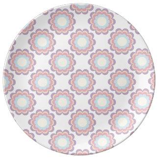 PastellfarbBlumen-Muster Teller Aus Porzellan