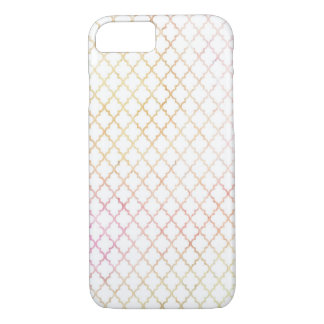 Pastellfarbemoderner Quatrefoil iPhone 6 Fall iPhone 8/7 Hülle
