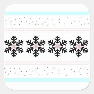 Pastellfeiertagsaufkleber Quadratischer Aufkleber