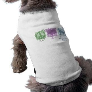 Pastellfrieden, Liebe und AmStaffs Ärmelfreies Hunde-Shirt