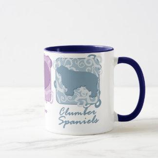Pastellfrieden, Liebe und Clumber Spaniels Tasse