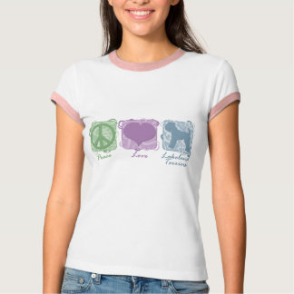Pastellfrieden, Liebe und Lakeland-Terrier T-Shirt