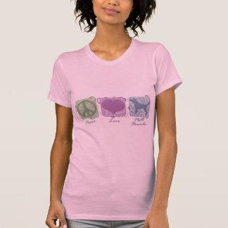 Pastellfrieden, Liebe und Plott Jagdhunde T-Shirt
