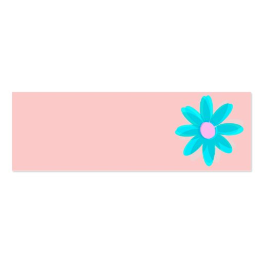 Pastellgänseblümchen Visitenkarten Vorlage