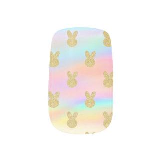 PastellGlitterhäschen Minx Nagelkunst