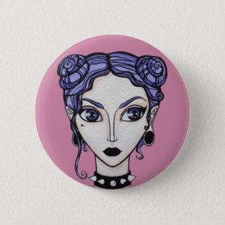 Pastellgoth Mädchen Runder Button 5,1 Cm