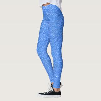 Pastellhimmel-Blau-Bad-Blasen Seafoam Verpackung Leggings
