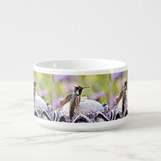 PastellHummer auf Wasser-Brunnen-Chili-Schüssel Kleine Suppentasse