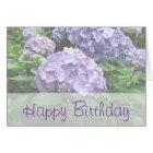 PastellHydrangeas an der Trebah Geburtstags-Karte Karte