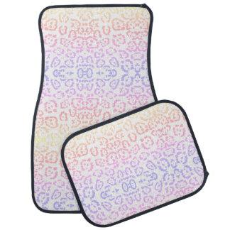 PastellKawaii Leopard-Regenbogen-Tierdruck Autofußmatte