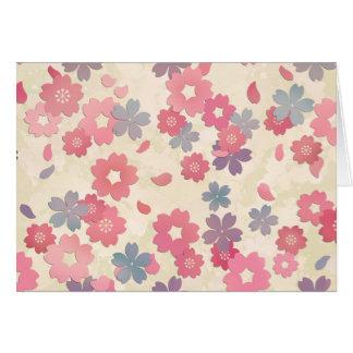 Pastellkirschblüte-Kirschblüten Karte
