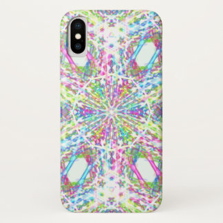 PastellKrawattenkaleidoskop iPhone X Hülle