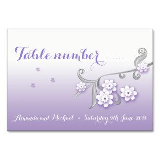PastellLiebevögel, die Tischnummerkarte wedding Karte
