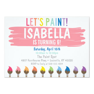 Pastellmalerei-Party Einladung