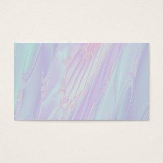 Pastellmuster-Fraktal - SeeMuschel-Art Visitenkarte