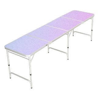 PastellOmbre Glitter Beer Pong Tisch