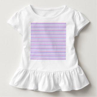Pastellostern-Streifen Kleinkind T-shirt