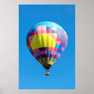 PastellPatchwork-Ballon-Plakat Poster